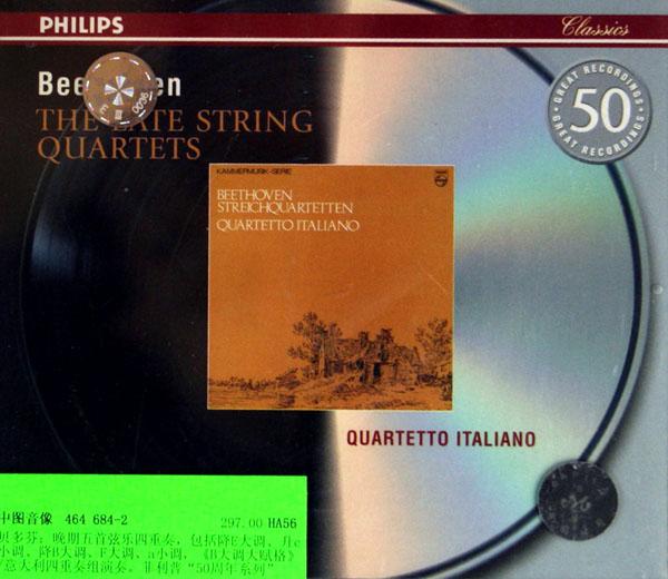 cd贝多芬晚期弦乐四重奏(3碟装)