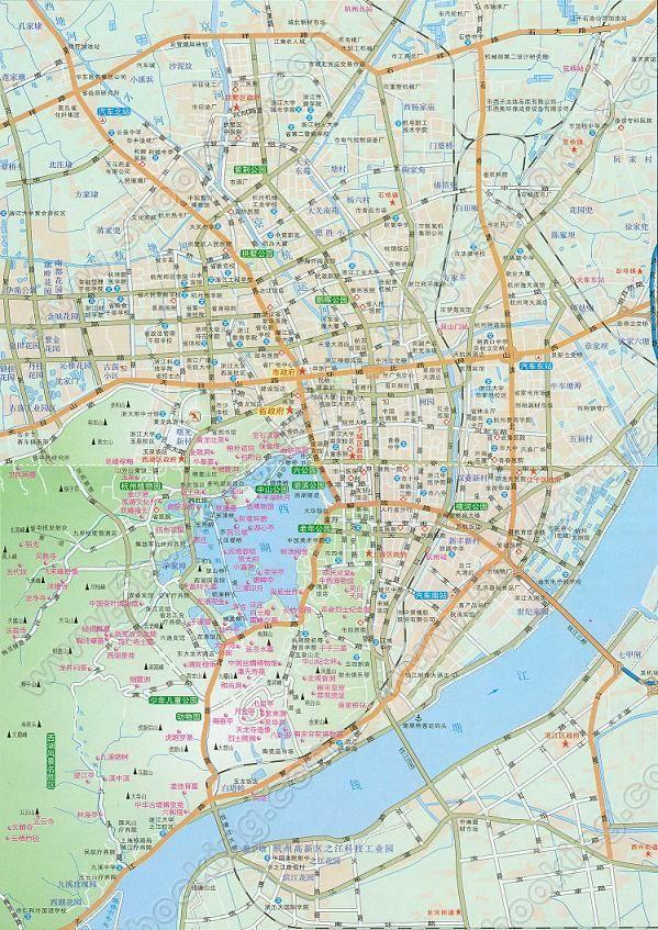 杭州市地图1:180000