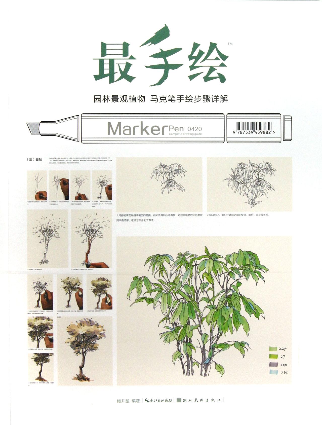 最手绘(园林景观植物马克笔手绘步骤详解)