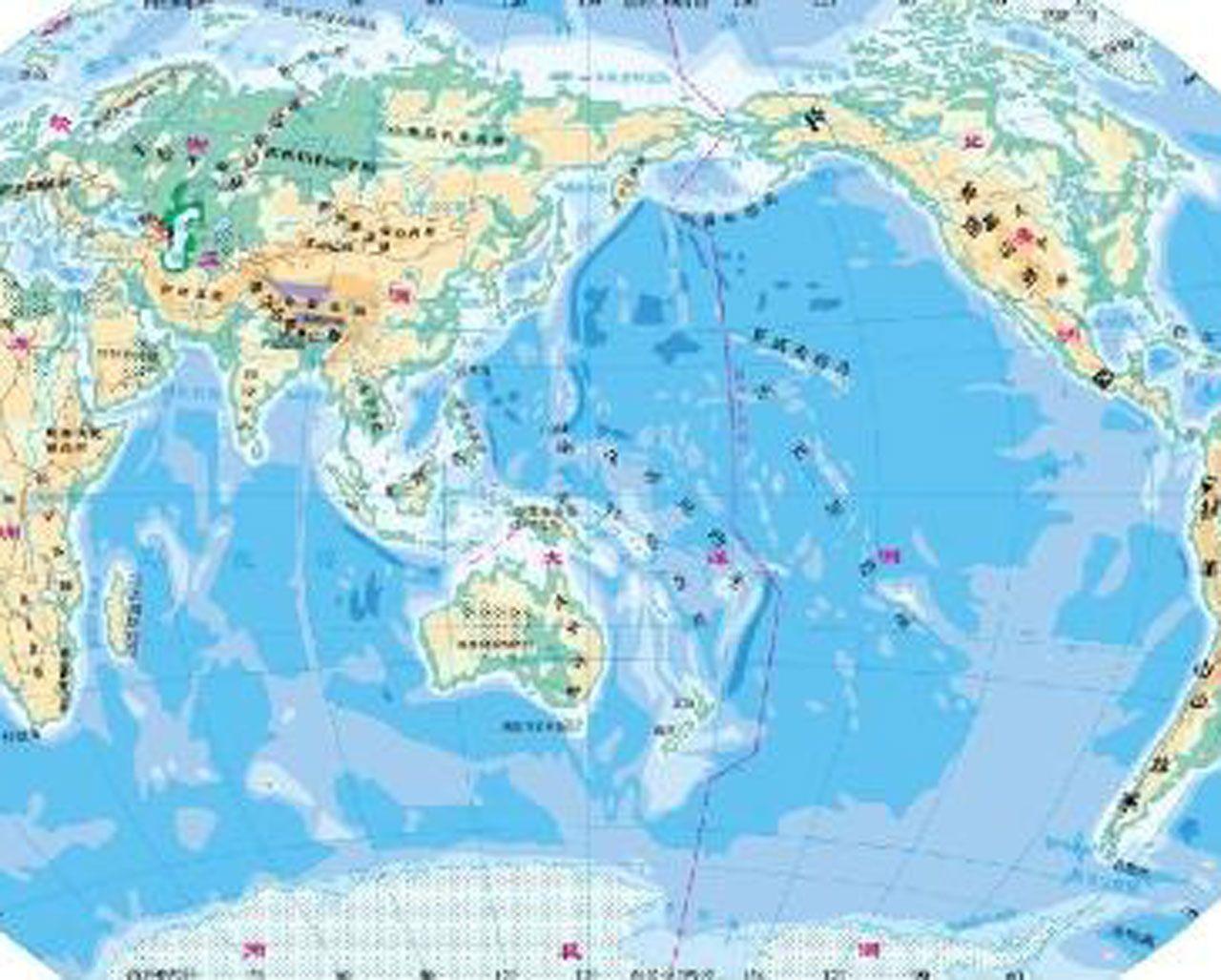 世界地形图(地形版)