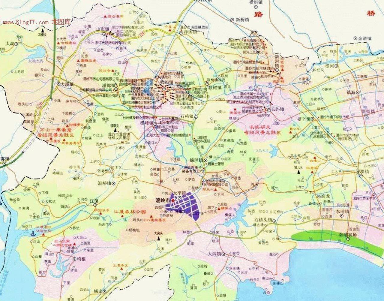 台州市地图(1:180000)
