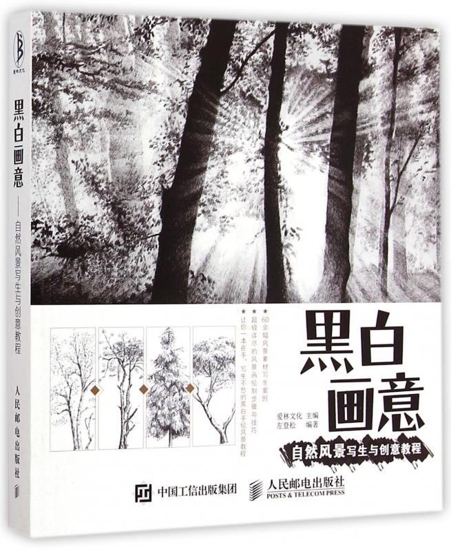 黑白画意(自然风景写生与创意教程)