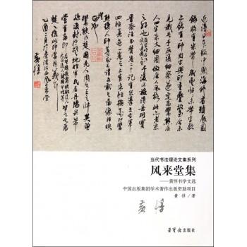 风来堂集--黄惇书学文选/当代书法理论文集系列