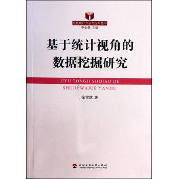 基于统计视角的数据挖掘研究/当代统计方法与应用丛书