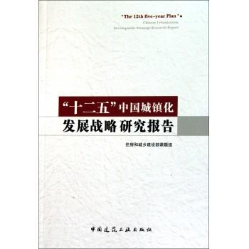 十二五中国城镇化发展战略研究报告