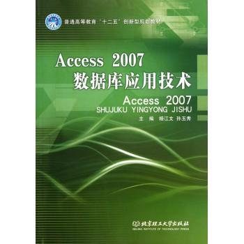 Access2007数据库应用技术(普通高等教育十二五创新型规划教材)