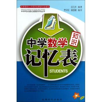 中学数学知识记忆表/中学考点速记速查系列丛书
