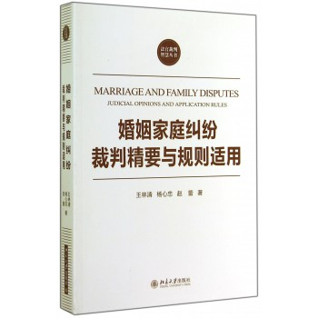 婚姻家庭纠纷裁判精要与规则适用/法官裁判智慧丛书