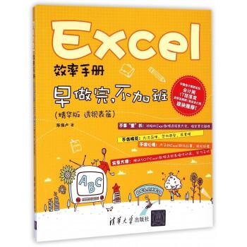 Excel效率手册(早做完不加班精华版透视表篇)