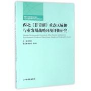 西北<甘青新>重点区域和行业发展战略环境评价研究/西部大开发重点区域和行业发展战略环境评价系列丛书